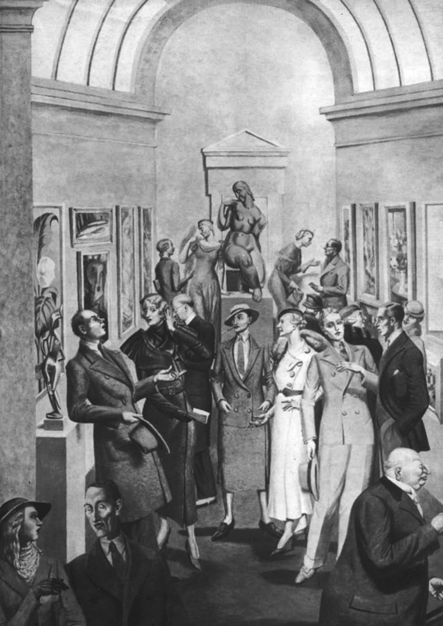 Private View by Gladys Hynes, 1937