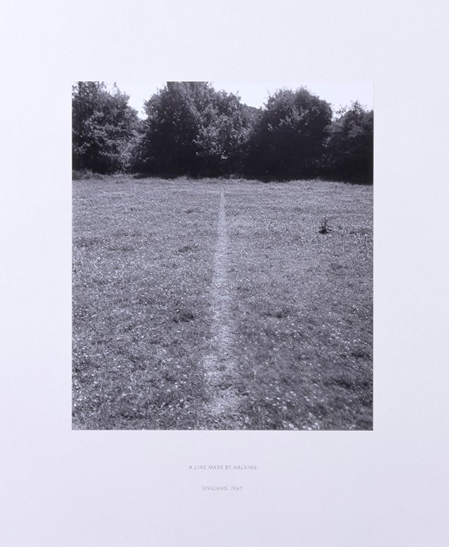 Richard Long, A Line Made by Walking