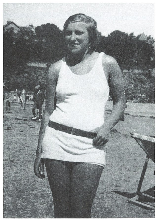 Marie-Therese on Beach 1928