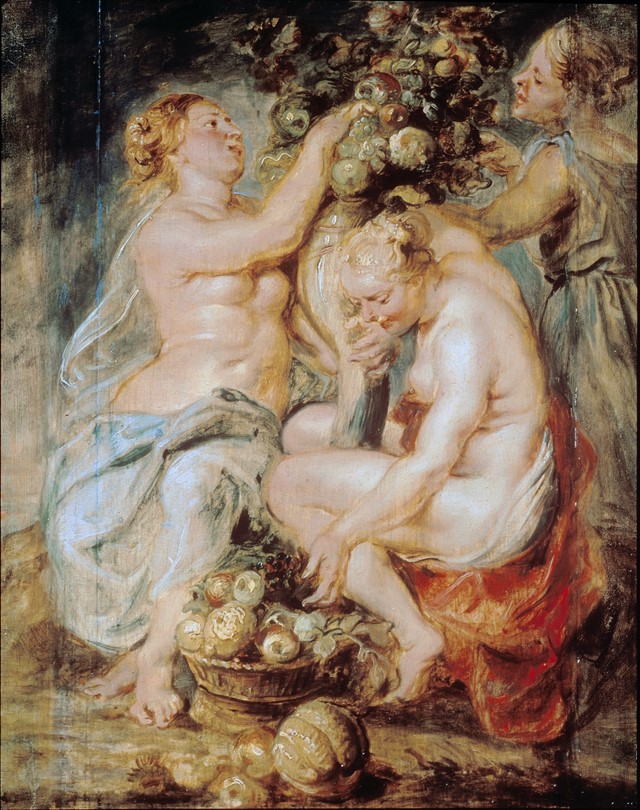 Peter Paul Rubens, Ceres and Two Nymphs with a Cor
