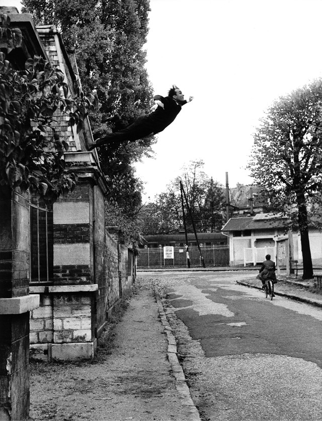"Yves Klein's ""Leap Into the Void,"" Fontenay-aux Ro"
