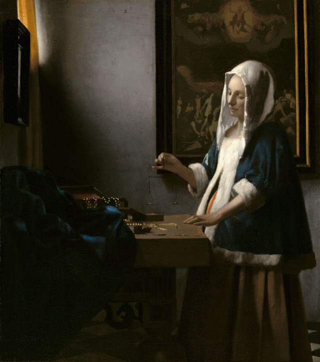 Johannes-Vermeer-(1632-to-1675),-Woman-With-a-Bala