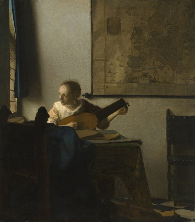 Johannes-Vermeer-(1632-to-1675),-Woman-with-a-Lute