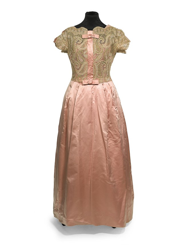 Victor-Stiebel-pink-evening-dress