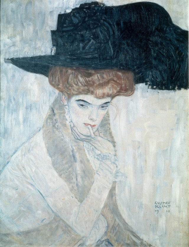 Klimt_Black Feather Hat