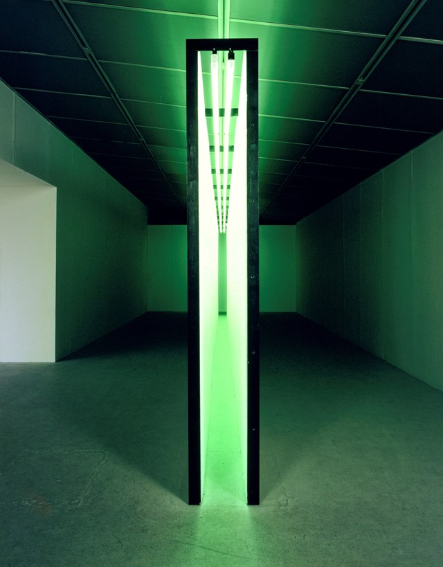 Bruce Nauman. Green Light Corridor, Solomon, 1970