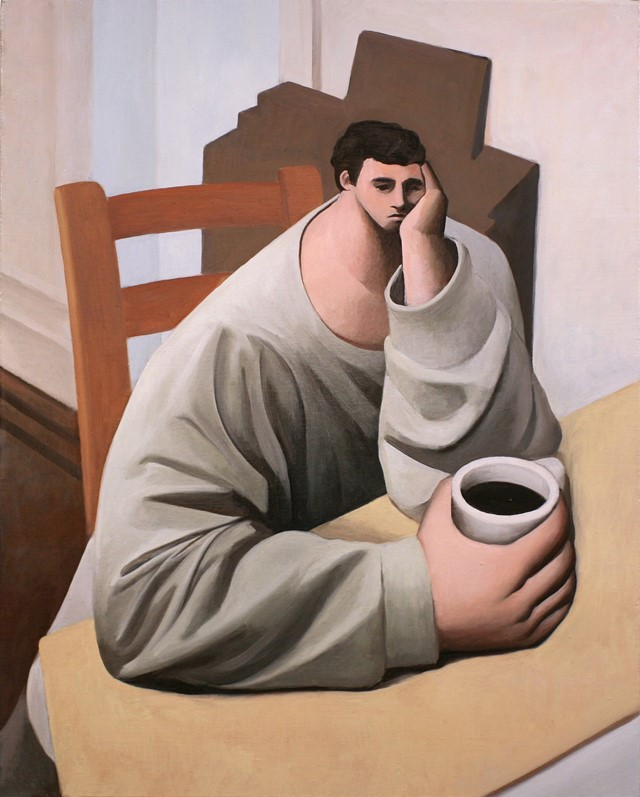 Tony Toscani, Melancholy, 2018, Oil on linen, 30 x