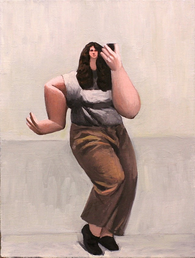Tony Toscani, Selfie Pose, 2018, Oil on Linen, 16