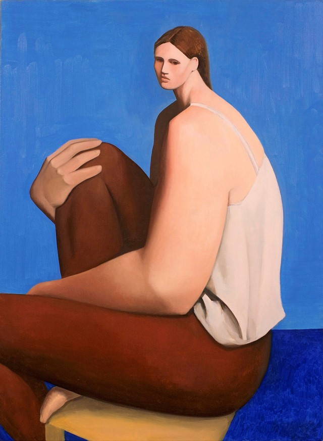 Tony Toscani, Woman In Brown Pants, 2018, Oil on