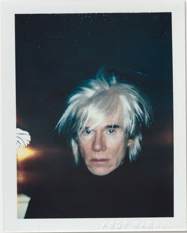 Andy-Warhol,-Self-Portrait-in-Fright-Wig,-1986,-Po