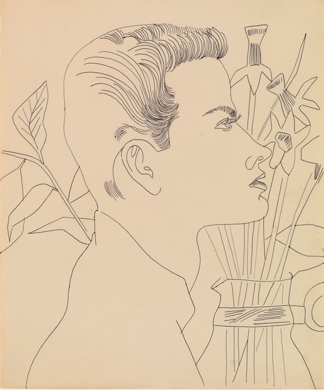 Andy Warhol Boy with Flowers