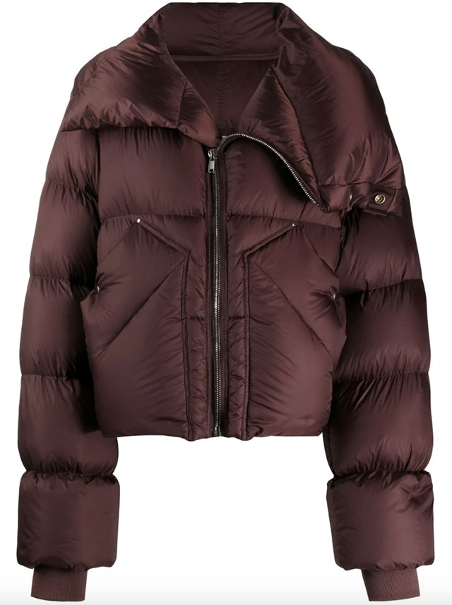 Padded oversized down jacket by Rick Owens
