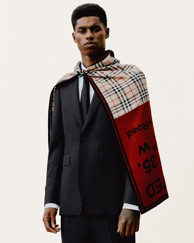Marcus Rashford © Courtesy of Burberry Rafael Pav