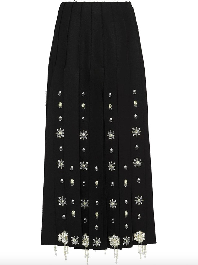 Embroidered skirt by Prada