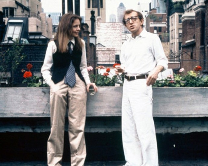 Diane Keaton and Woody Allen in Annie Hall, 1977