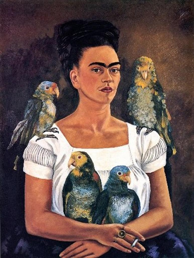 My Parrots and I, Frida Kahlo, c.1941