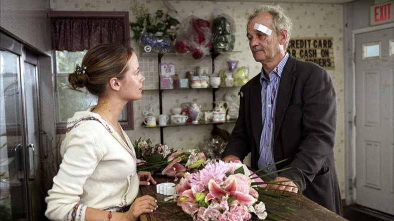 Pell James and Bill Murray in Broken Flowers, 2005
