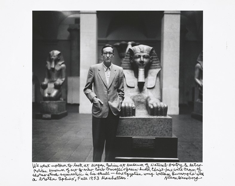 William Burroughs with a brother Sphinx, Manhattan, Fall 195
