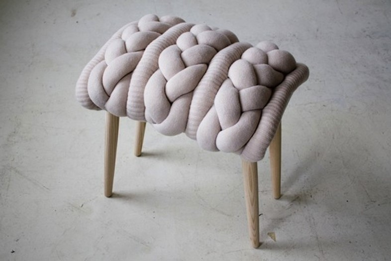 The Art of Knit Stool by Claire-Anne O'Brien