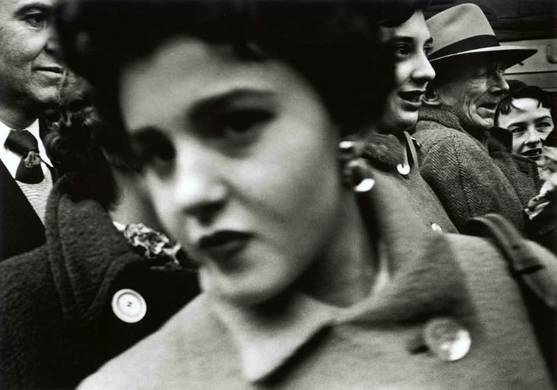 Big Face in the Crowd by William Klein