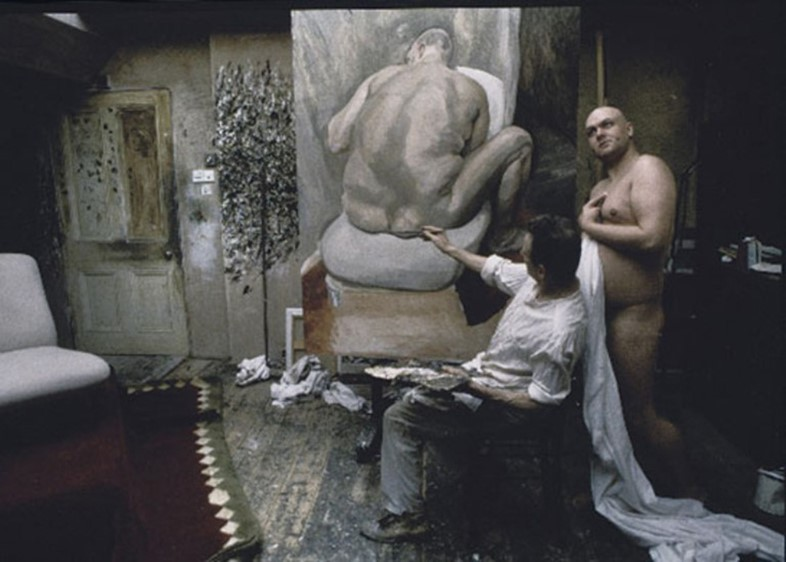 Leigh Bowery and Lucian Freud by Bruce Bernard