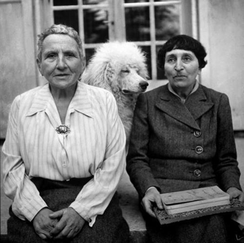 Gertrude Stein, Basket and Alice B. Toklas in LIFE Magazine,