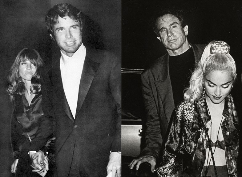 Warren Beatty with Julie Christie and Madonna