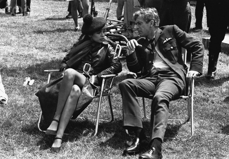 Michael Caine & Bianca Jagger