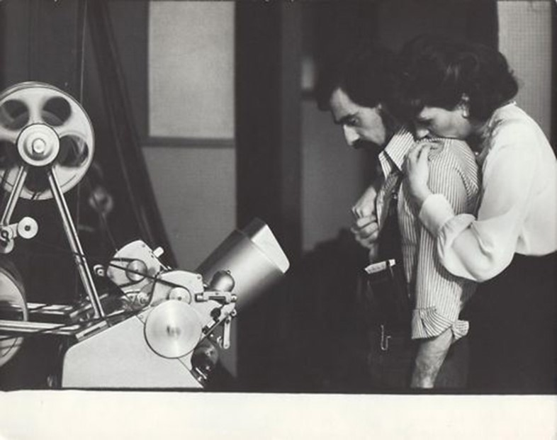 Martin Scorsese & Liza Minnelli on the set of New York, New