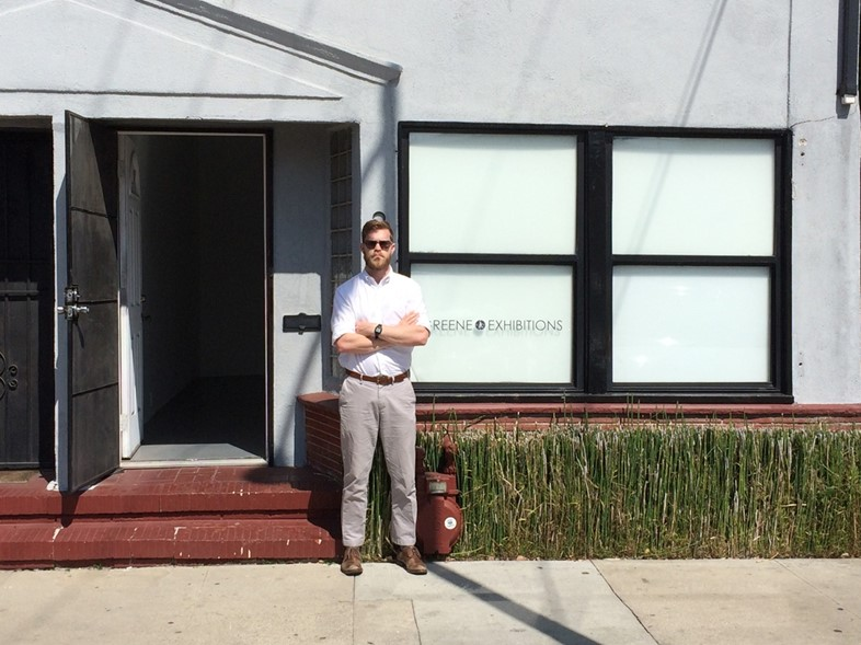 Rob Greene outside his gallery
