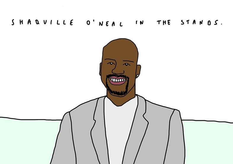 Shaquille O'Neal makes an appearance at Wimbledon