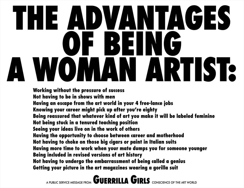 The Advantages of Being a Woman Artist, 1988, (c) The Guerri