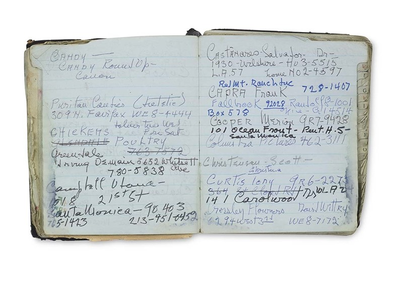 Katharine Hepburn's Panama Address Book, 1955-6