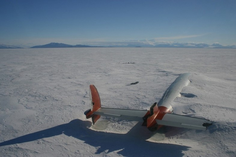 The remains of the Pegasus which crashed in 1971 in Antarcti
