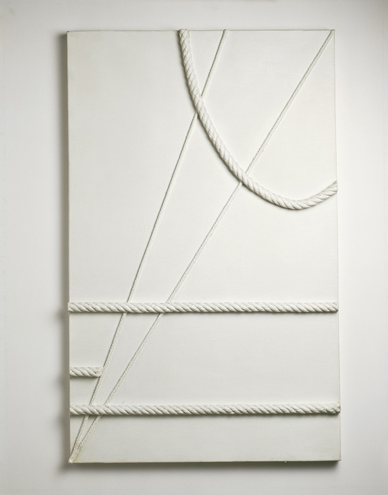 Marlow Moss, White with Curved Cord, 1943