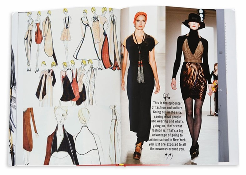 Spread from The School of Fashion: 30 Parsons Designers by S