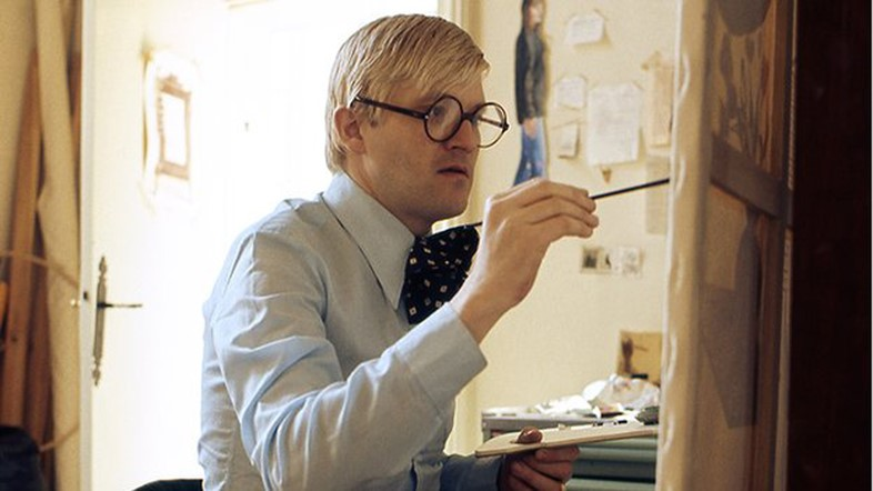 David Hockney painting