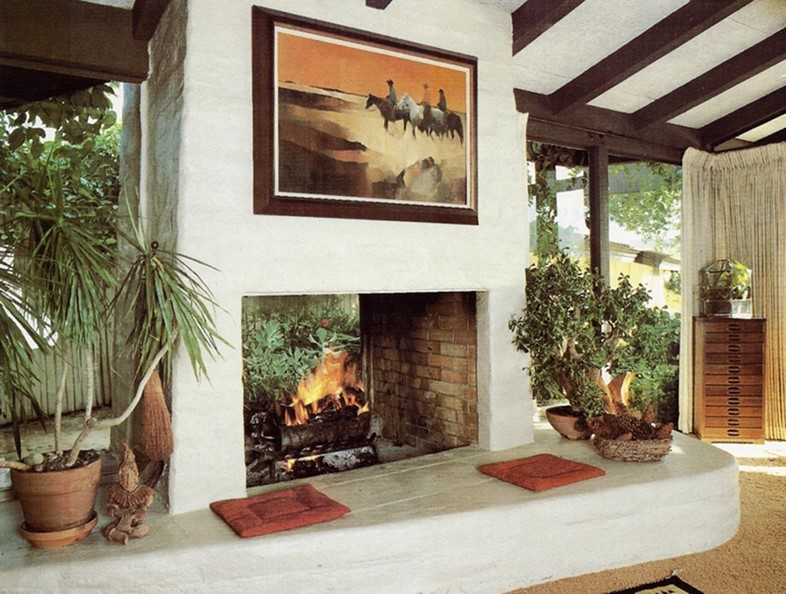 Fireplace by Cliff May from Fireplaces, 1985