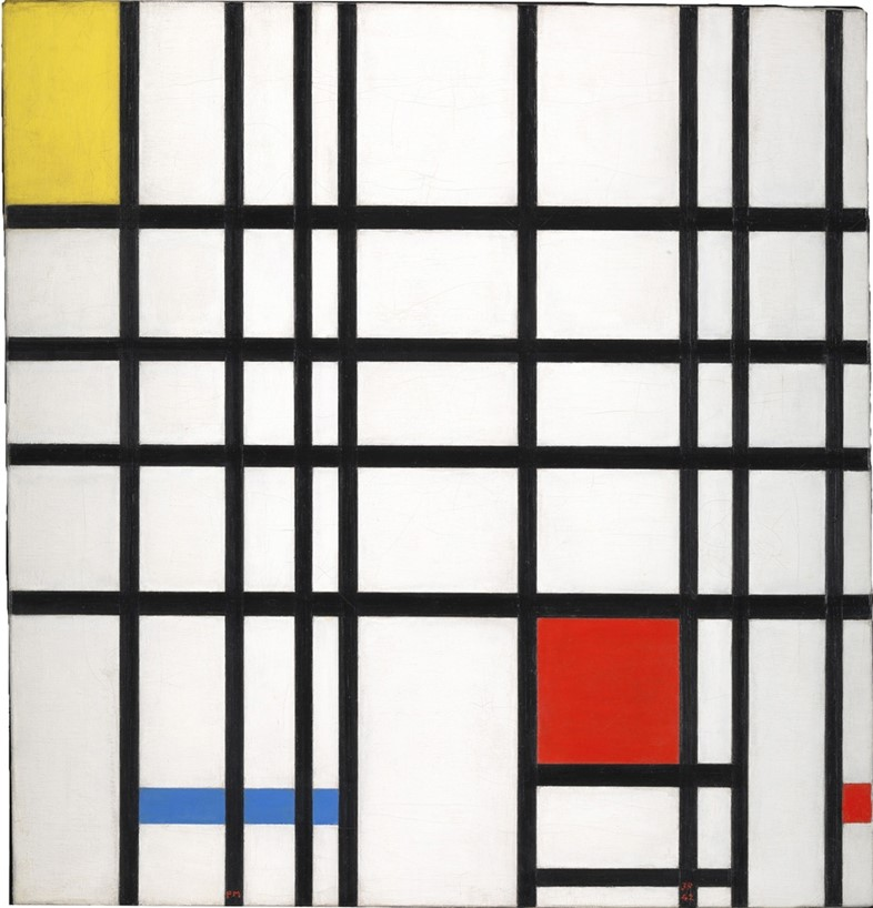 Piet Mondrian, Composition with Yellow, Blue and Red, 1937-4