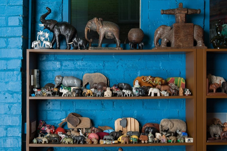 Elephant figurines from the collection of Peter Blake