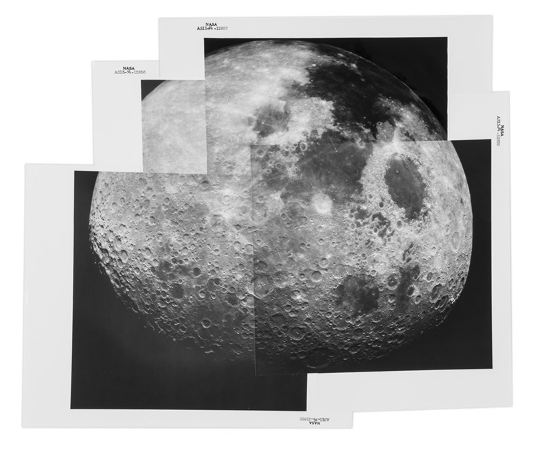 Panorama of the receding Moon, Apollo 15, August 1971