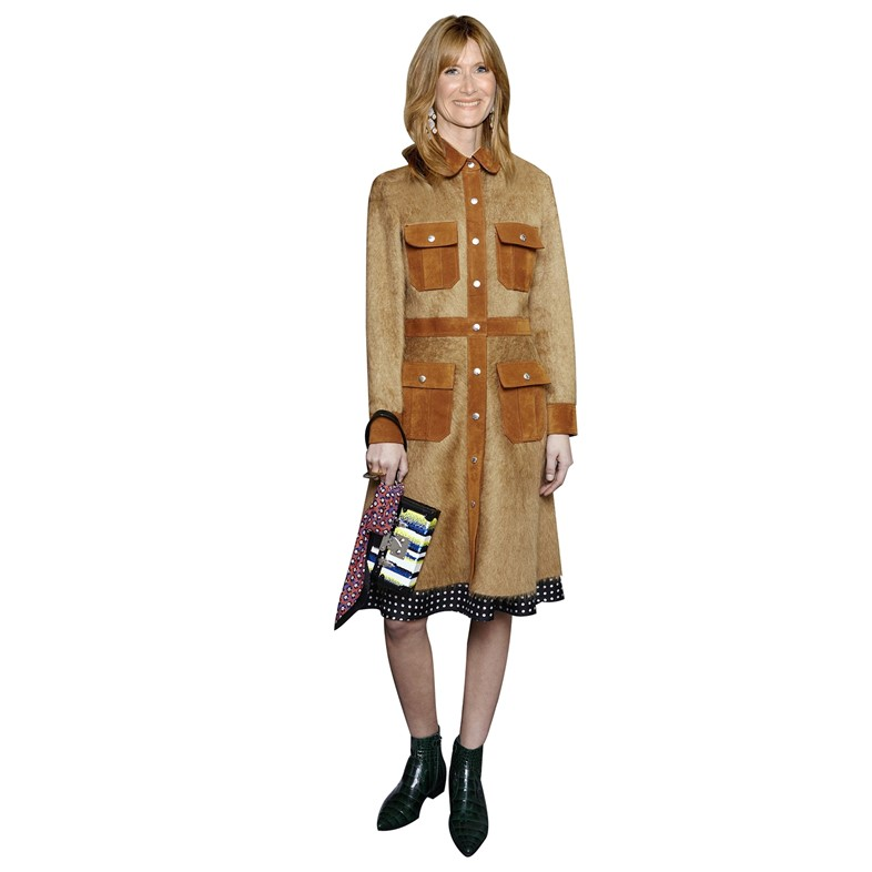 Laura Dern wearing Louis Vuitton Pre-Fall 2015