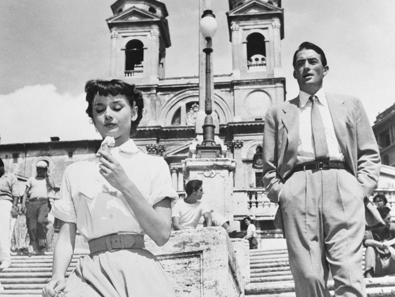 Audrey Hepburn and Gregory Peck in Roman Holiday, 1954