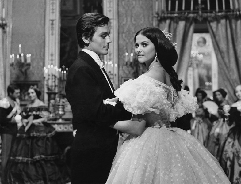 Alain Delon and Claudia Cardinale in The Leopard, 1963