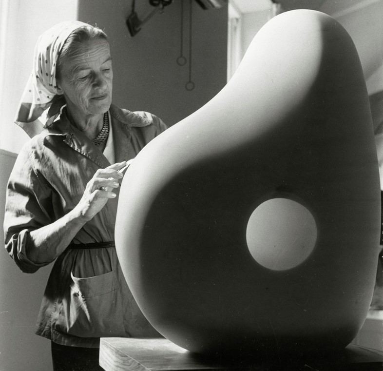 Barbara Hepworth at Trewyn Studio, 1961