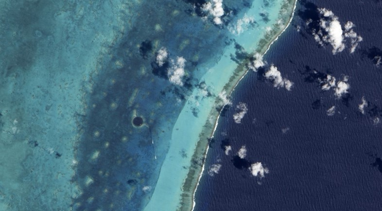 Satellite View of the Great Blue Hole