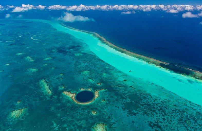 Air View of the Great Blue Hole