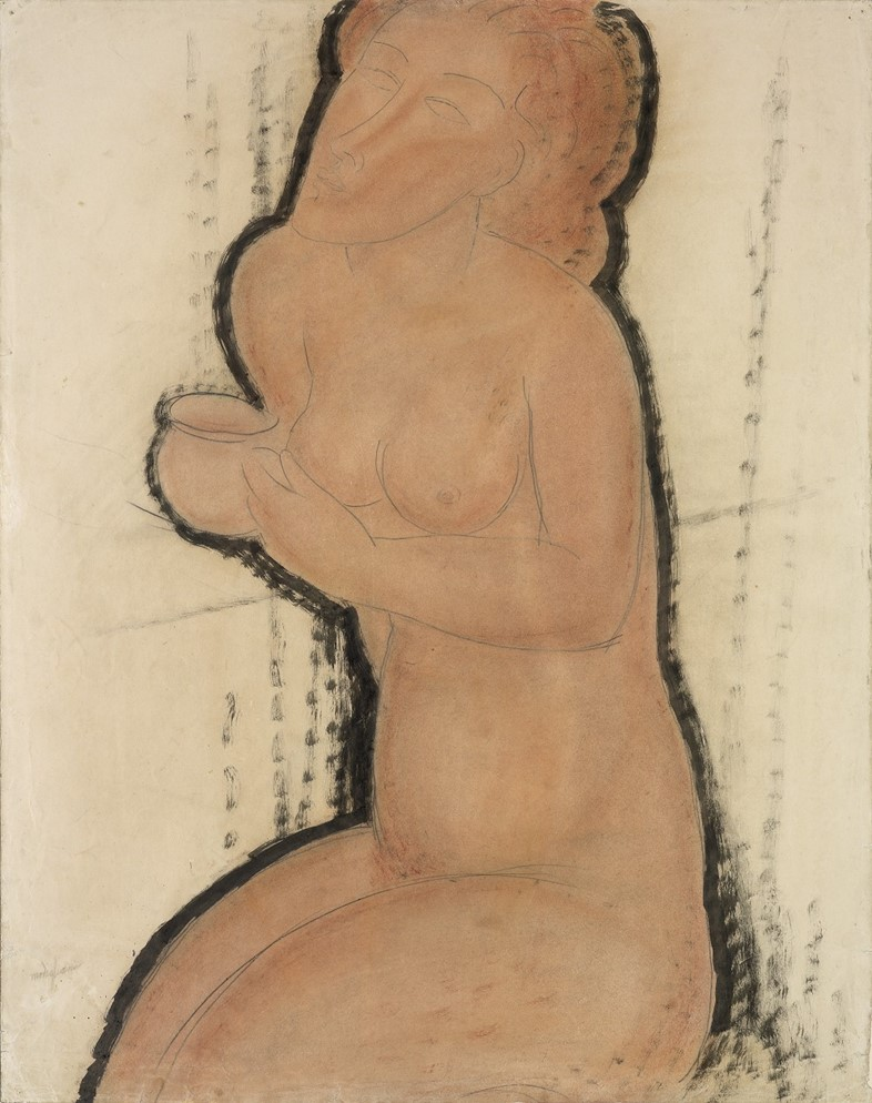 Modigliani, Nude with Cup, c.1916