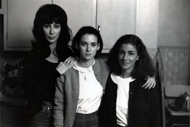 Cher, Winona and Patty Dann on the set of Mermaids, 1990