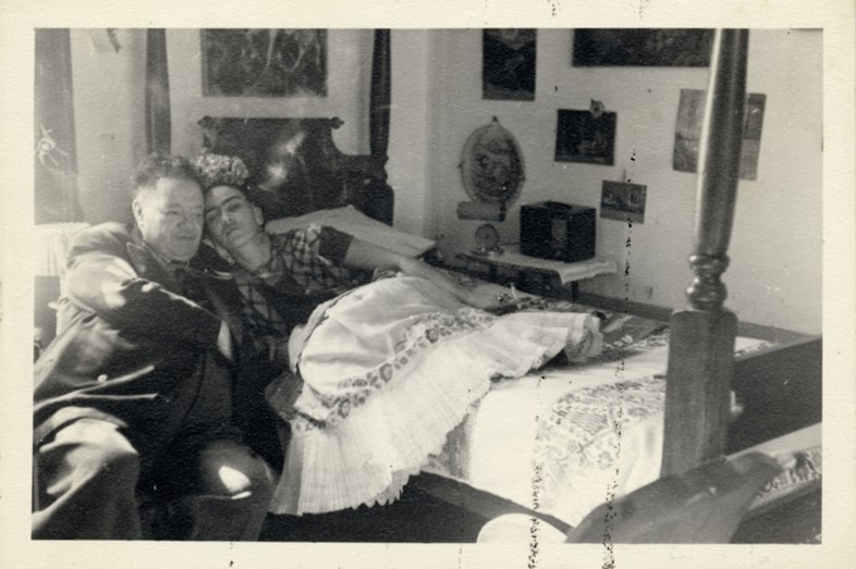 Diego Rivera and Frida Kahlo, Coyoacán, Mexico